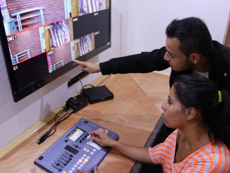 Cabina de producción en televisión digital CUPP
